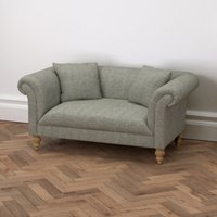 Earlsfield Tweed Natural Oak Legs Sofa, Tweed Mid Grey, One Size
