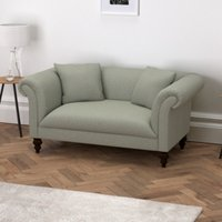 Earlsfield Wool 2 Seater Sofa, Light Grey Wool, One Size