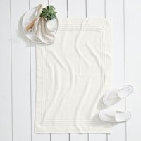 Egyptian Bath Mat , Ivory, Medium