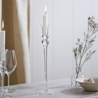Elegant Large Dinner Candle Holder , Clear, One Size