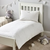 Elephants Bed Linen, White, Cot Bed