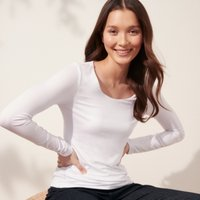 Essential Double Layer T-Shirt, White, 8