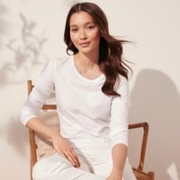 Essential Long Sleeve T-Shirt, White, 8