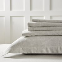 Evesham Flat Sheet, Soft Grey, King