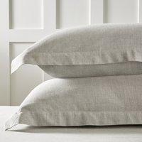 Evesham Oxford Pillowcase with Border – Single, Soft Grey, Super King
