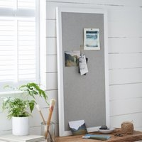 Pin Board, White Grey, One Size