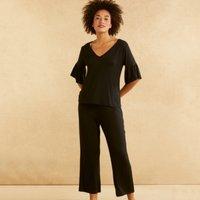 Fluted Sleeve Pyjama Set