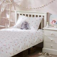 Fairy Easycare Bed Linen Set, White, Cot Bed
