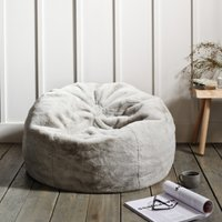 image-Faux-Fur Beanbag, Natural, One Size