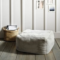 Faux-Fur Pouffe, Natural, One Size