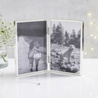 "Fine Silver Hinged Photo Frame 4x6"" , Silver, One Size"