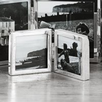 "Fine Silver Mini Hinged Photo Frame 2x2"", Silver, One Size"