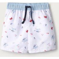 Fish Swim Shorts (1-6yrs), White, 2-3yrs