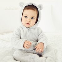 Fleece Romper, Grey, Newborn