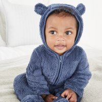 Fleece Romper, Blue, 12-18mths