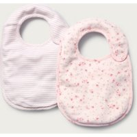 Floral & Stripe Bibs - Set of 2, Pink, One Size