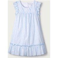 Floral Ruffle-Hem Dress (1-6yrs), Blue, 4-5yrs