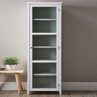 Narrow Glass Storage Cabinet