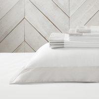 Genoa Flat Sheet, White Silver, Single