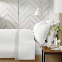 Genoa Duvet Cover, White Silver, Double