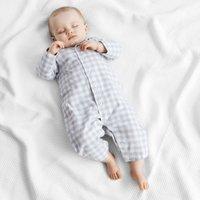 Gingham Check Sleepsuit