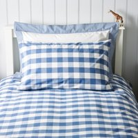 Gingham Classic Pillowcase, Moonlight Blue, Cot Bed