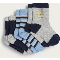 Giraffe Baby Socks – Set of 3, Multi, 6-12mths