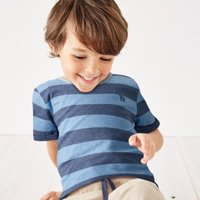 Giraffe Stripe T-Shirt (1-6yrs), Blue/Grey, 1 1/2-2yrs