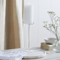 Glass Large Pillar Candle Holder , Clear, One Size