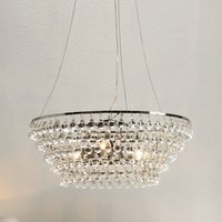 Glass Orb Chandelier Medium Ceiling Light, Clear, One Size