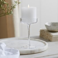 Glass Pillar Candle Holder Small, Clear, One Size
