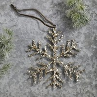 Glitter Snowflake Christmas Decoration, Silver, One Size