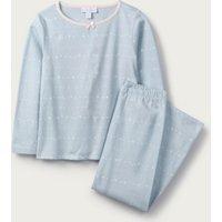 Glow-In-The-Dark Heart Pyjamas (1-12yrs), Blue, 5-6yrs