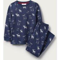 Glow-In-The-Dark Reindeer Print Pyjamas (1-12yrs), Blue, 1-1 1/2yrs