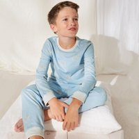 Glow-In-The-Dark Safari-Print Pyjamas (1-12yrs), Blue, 2-3yrs