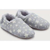 Glow-In-The-Dark Slippers, Grey, 1/2