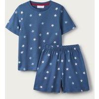 Glow-In-The-Dark Star Shortie Pyjamas (1-12yrs), Blue, 1 1/2-2yrs