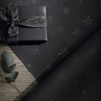 Grey, Silver Flitter Snowflake Wrapping Paper - 5m , Silver, One Size