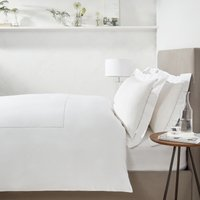 Hadley Duvet Cover & Pillowcase Set, White Silver, Single