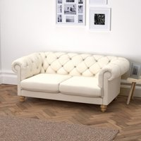 Hampstead 3 Seater Sofa Cotton, Pearl Cotton, One Size