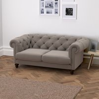 Hampstead 3 Seater Velvet Sofa, Silver Grey Velvet, One Size