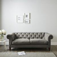 Hampstead 3 Seater Sofa Cotton, Grey Cotton, One Size