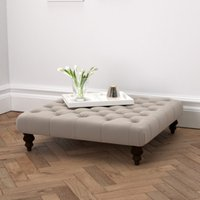 Hampstead Square Velvet Footstool