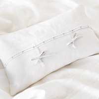 Hampton Cushion Cover, White Grey, Small Rectangle