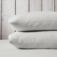 Harrington Classic Pillowcase - Single, White/Soft Grey, Standard