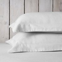 Harrington Oxford Pillowcase with Border - Single, White/Soft Grey, Super King