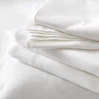Harrison Flat Sheet, White, Single