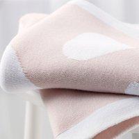 Reversible Heart Baby Blanket