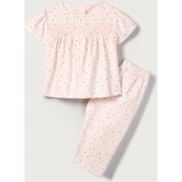 Heart Print Smocked Pyjamas