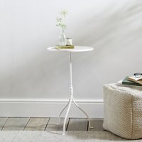 Holkam Side Table , White, One Size
